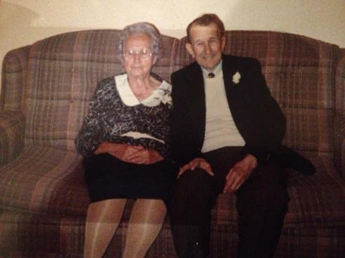My great-grandparents on their 65th wedding anniversary