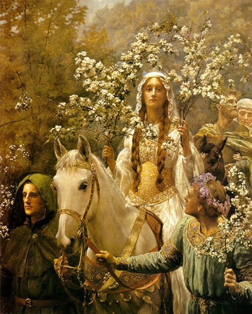 Queen Guinevere's Maying by John Collier