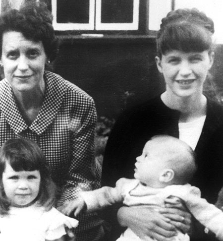 Sylvia with her mother, Aurelia, and her children, Frieda and Nicholas