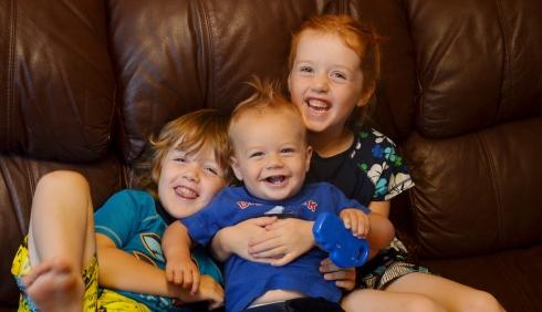 Joanna's three children
