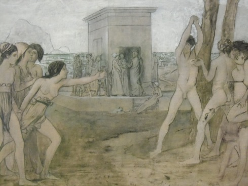My favourite painting from the Art Institute of Chicago - Young Spartan Girls Challenging Boys