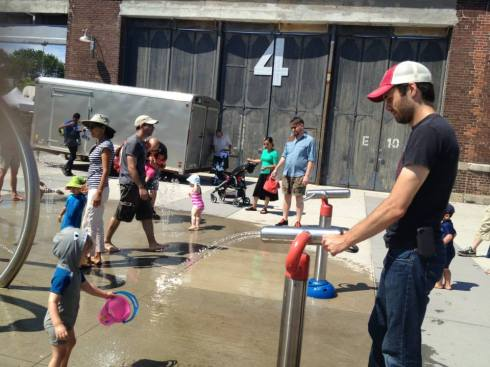 More splash pad madness, this time with Matt manning the spray thingie