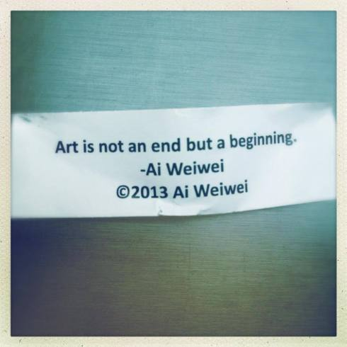 From the Ai Wei Wei exhibit at the art gallery