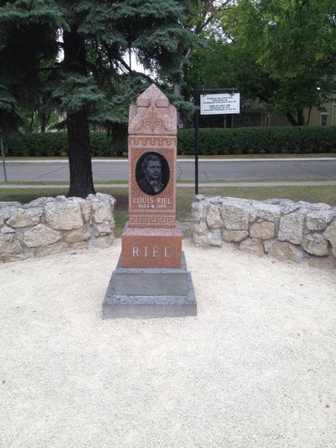 In Winnipeg I visited Louis Riel's grave!