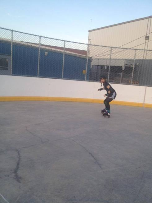 I learned how to skate! Sort of!