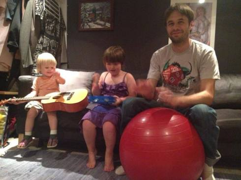 Matt and Theo jamming with Iz