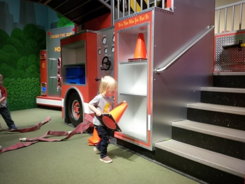 Theo playing at the Children's Museum. I think he was in heaven.