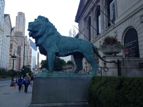 The lions at the Art Institute