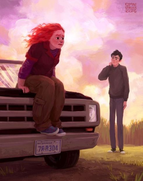 Eleanor & Park fan art by Simini Blocker Illustration http://siminiblocker.tumblr.com